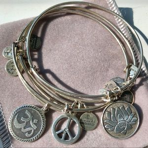 Set of 3 Alex and Ani Charm Bracelets